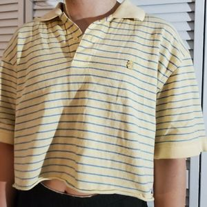 yellow striped crop top from Izod!